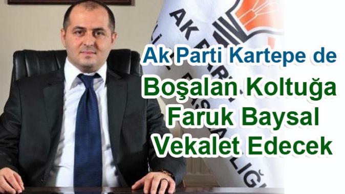 Ak Parti Kartepe de Yeni Başkan Faruk Baysal