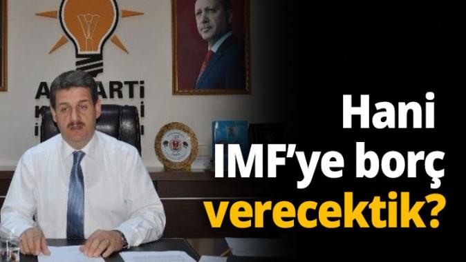 Hani IMF ye borc verektik