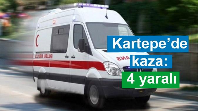 Kartepe'de kaza: 4 yaralı