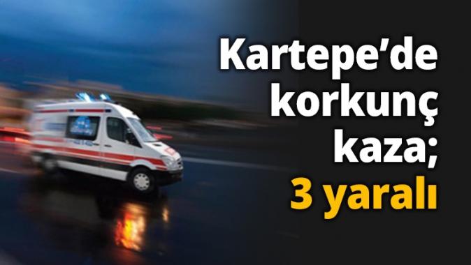 Kartepe'de korkunç kaza; 3 yaralı