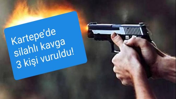 Kartepe'de silahlı kavga 3 kişi vuruldu!