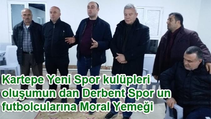 Kartepe Yeni Spor kulüpleri oluşumun dan Derbent Spor un futbolcularına Moral Yemeği