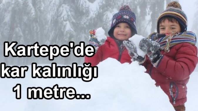 Kartepede kar kalınlığı 1 metre...