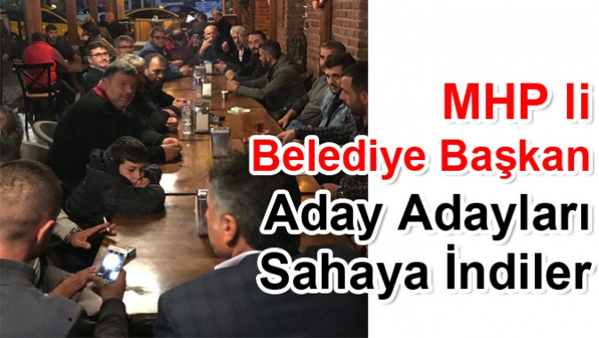 MHP Kartepe Belediye başkan Aday Adayları Sahaya İndiler