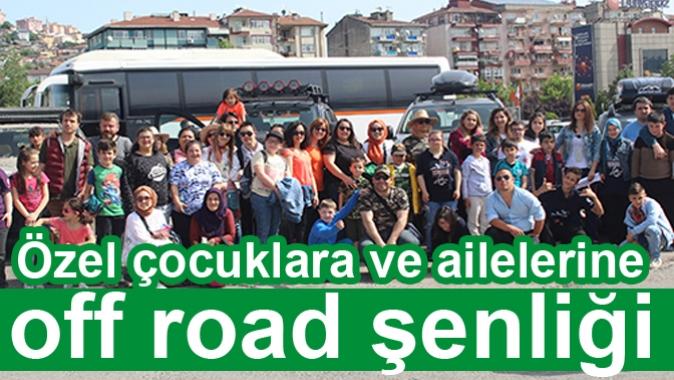 Özel çocuklara ve ailelerine off road şenliği