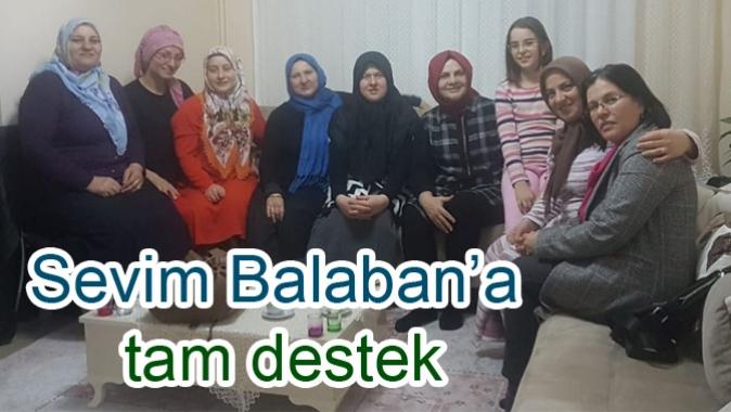 Sevim Balaban'a tam destek