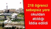 218 öğrenci sebepsiz yere okuldan atıldığı İddiası