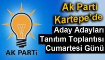 Ak Parti Kartepe Aday Adaylarını Cumartesi Tanıtıyor
