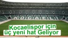 Büyükşehir den Kocaeli Spor için Yeni Hat