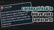 corona virüsü'te ölü ve vaka sayısı arttı