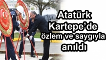 Gazi Mustafa Kemal Atatürk'ün vefatının 80'nci yıl dönümü Kartepe'de özlem ve saygıyla anıldı