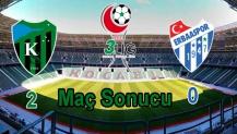 Kocaeli Spor 2 - Erba Spor 0 Maç Sonucu