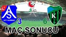 Kocaeli Spor 6 - Alemdağ 3 Maç Sonucu