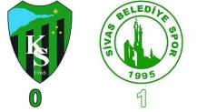 Kocaeli Spor 0 - Sivas Belediye Spor 1 Maç Sonucu