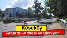 Köseköy Atatürk Caddesi yenileniyor