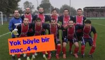 Köseköy Ateşspor'dan müthiş geri dönüş..4-4