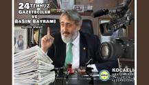 Murat Aydın'dan gazetecilere kutlama mesajı