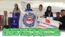 Özel KOTO AOSB MTAL öğrencisi Yıldız, Karate'de Türkiye Şampiyonu oldu
