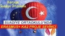SUADİYE ORTAOKULU'NDA ERASMUS+ KA2 PROJE SEVİNCİ