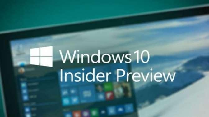 Windows 10 Insider'larına yeni güncelleme!