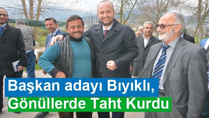 Başkan adayı Bıyıklı, Gönüllerde Taht Kurdu