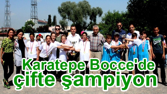 Karatepe Bocce'de çifte şampiyon