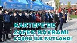 KARTEPE'DE ZAFER BAYRAMI COŞKU İLE KUTLANDI